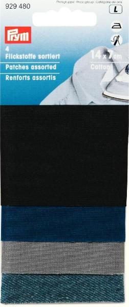 Prym Flickstoffe sortiert 14 x 7 cm, 4 Stück