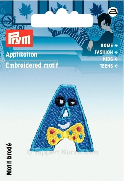 Prym Applikation Buchstabe A blau/gelb